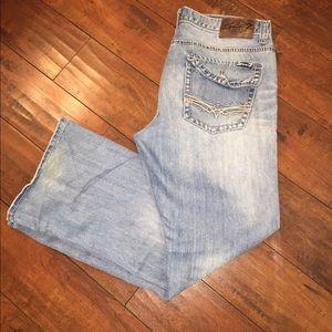 Seven7 men's Bootcut Distressed Jeans 34x32